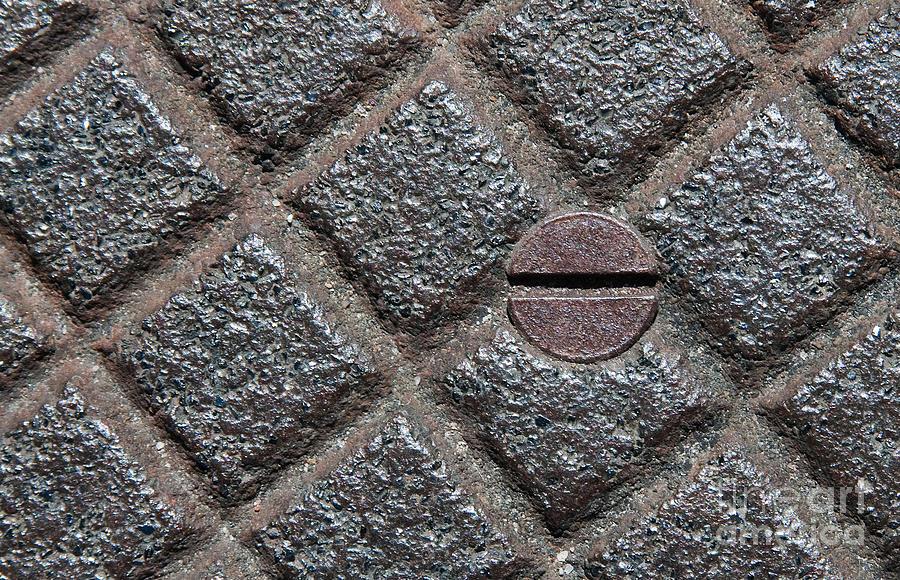 Metal Photograph - Circle And Squares by Dan Holm