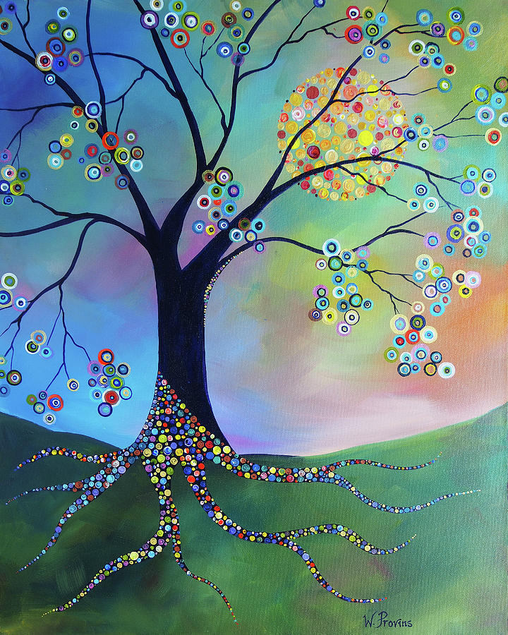 Circle Candy Tree - Putting Down roots by Wendy Provins