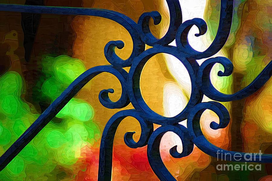 Iron Gate Photograph - Circle Design On Iron Gate by Donna Bentley
