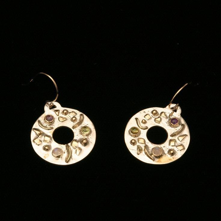 Circle Earrings Jewelry by Linda Bickel