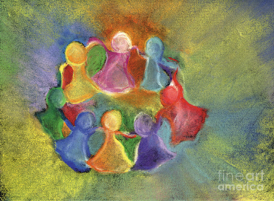 Circle Of Friends Pastel - Circle Of Friends by Susan Vannelli
