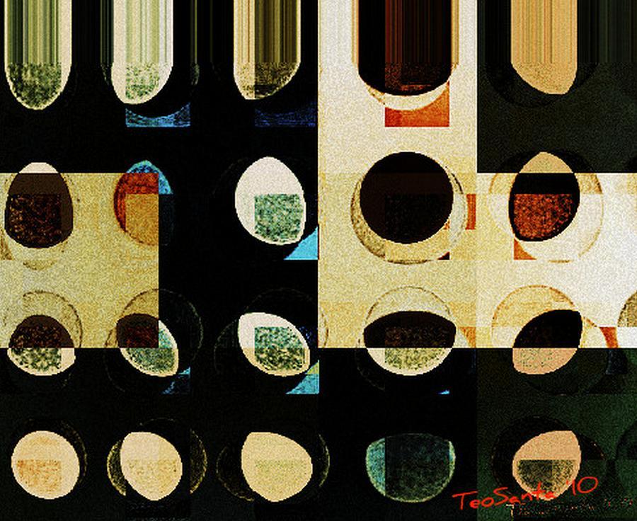 Circle Study number 10 Digital Art by Teodoro De La Santa