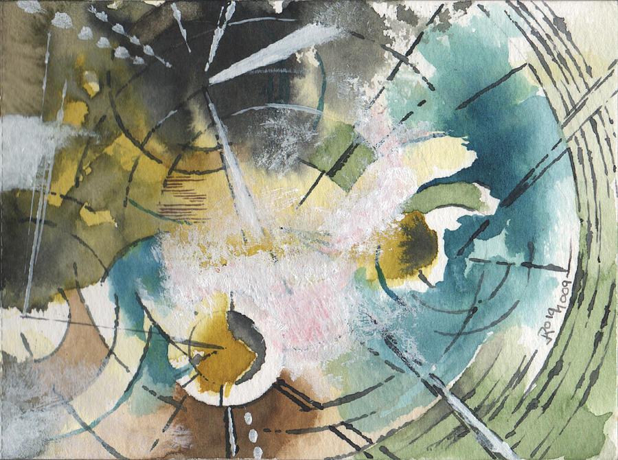 Circles 3 Painting by Josep Roig