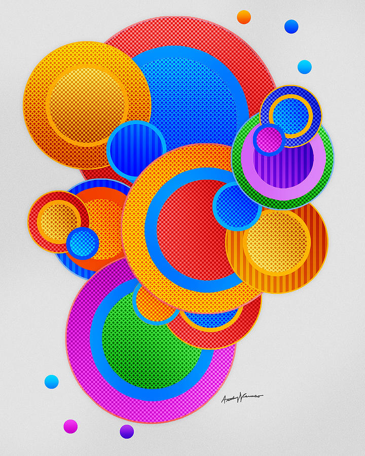 Abstract Digital Art - Circles by Anthony Caruso
