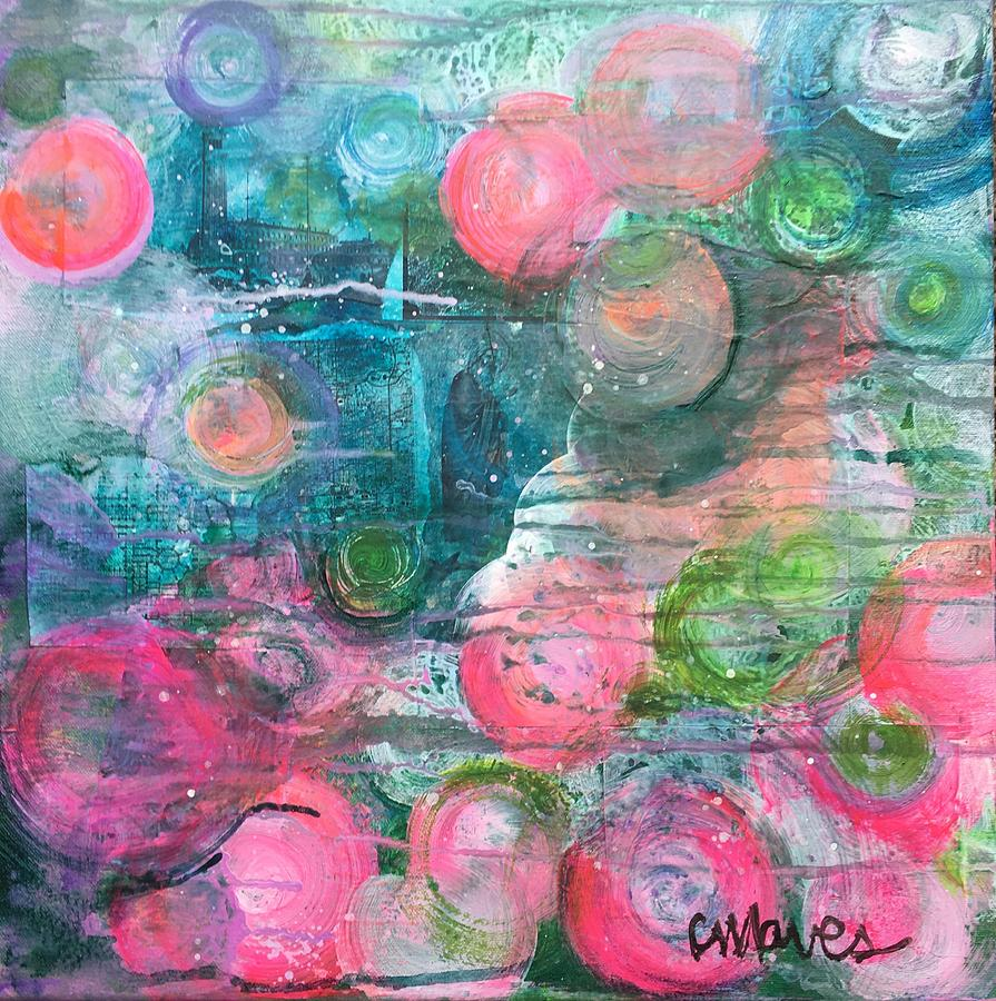 Circle Painting - Circles For San Marco  by Laurie Maves ART