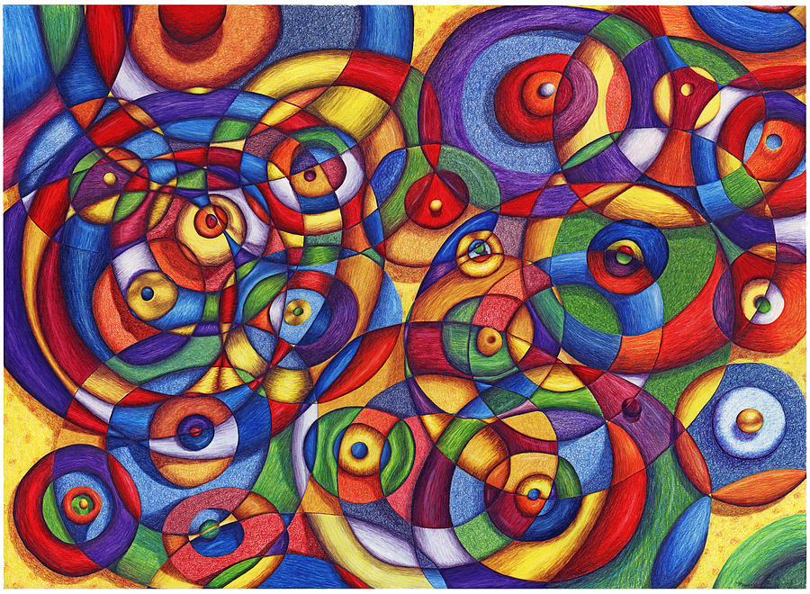 Circles Painting - Circles by Maureen Frank The Mandala Lady