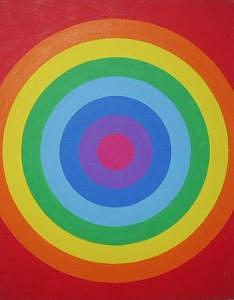 Abstract Painting - Circles by Mike Boast