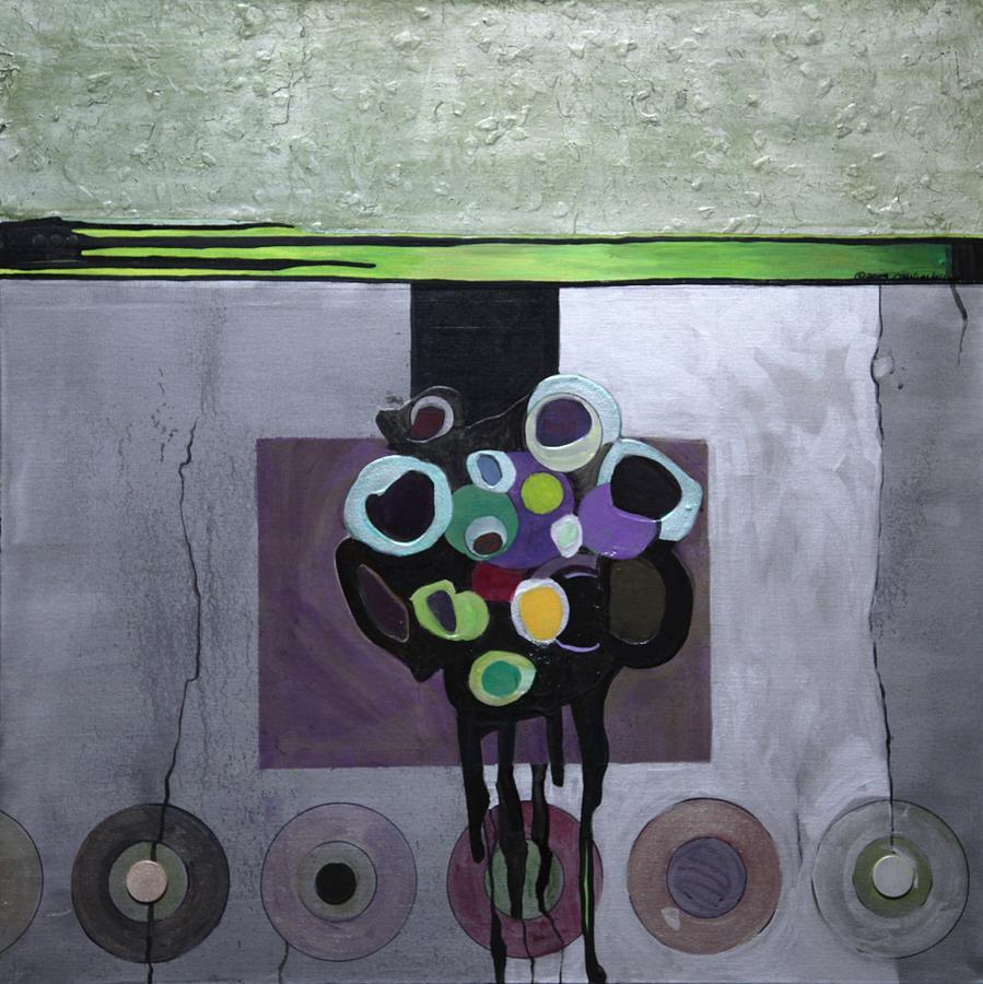 CIRCLES OF CELADON by Marlene Burns