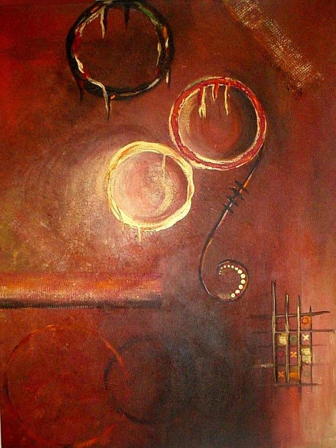 Circles of Fires Painting by Rita  Ibrahim