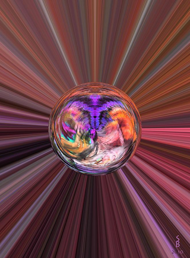 Abstract Digital Art - Circles Of Life by Sitara Bruns
