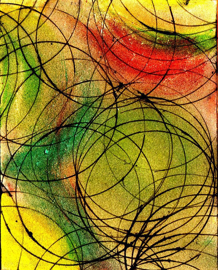 Abstract Painting - Circles by Wayne Potrafka