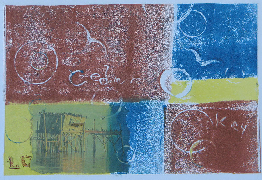 Printmaking Painting - Circling The Key by Libby  Cagle