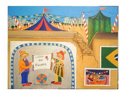 Circo Do Piranha Painting by Rodrigues Lessa