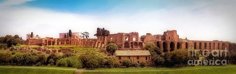 Palatine Hill Photograph - Circo Massimo Panoramic by Sue Melvin