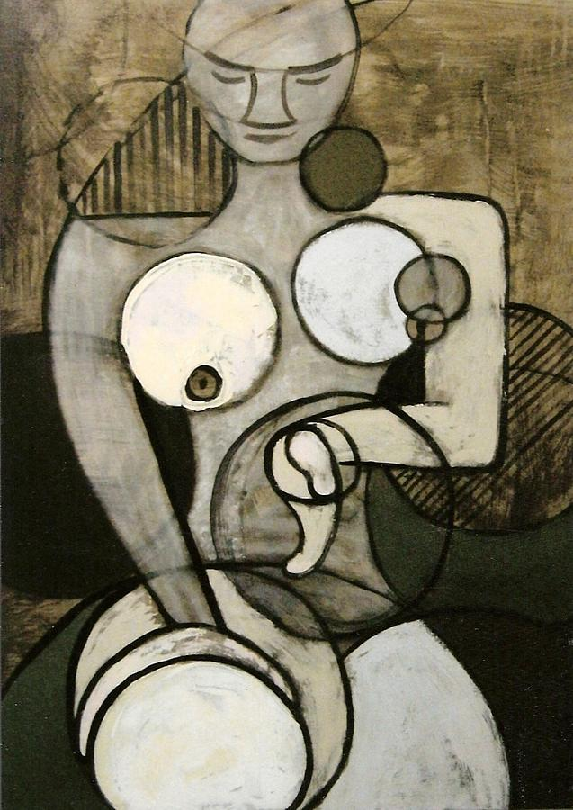 Female Nude Painting - Circularity 2 by Joanne Claxton