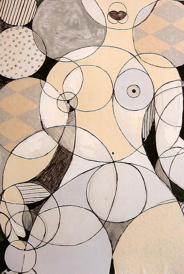 Female Form Painting - Circularity by Joanne Claxton