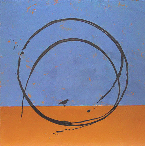 Bird Painting - Circumfluent 2 by Rae Belkin