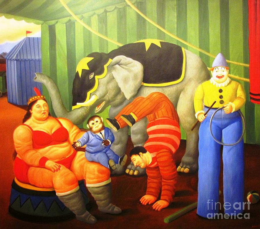 Circus performers Botero by Ted Pollard