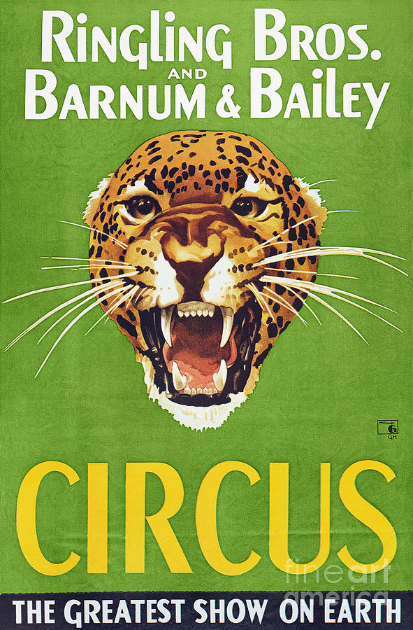 1940 Photograph - Circus Poster, 1940s by Granger