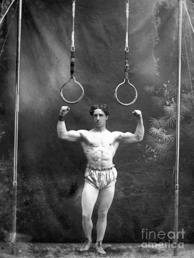 1885 Photograph - Circus Strongman, 1885 by Granger