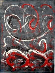 Oilpaint Painting - Cirkels by Lotte Pedersen