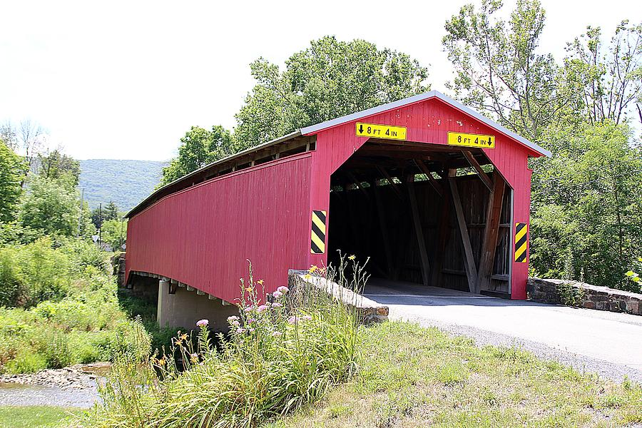 Cisna Mill Covered Bridge by Wayne Toutaint