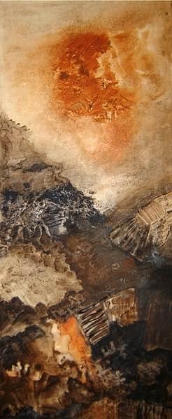 Landscape Painting - Cita Con La Ternura by Sara  Diciero