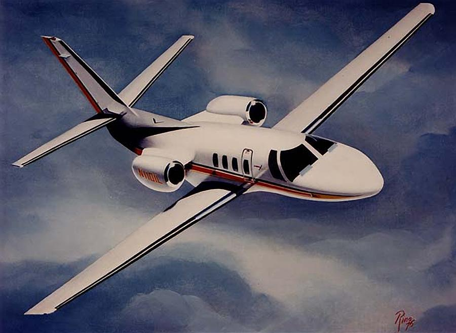 Cessna Painting - Citation 500 by Peter Ring Sr