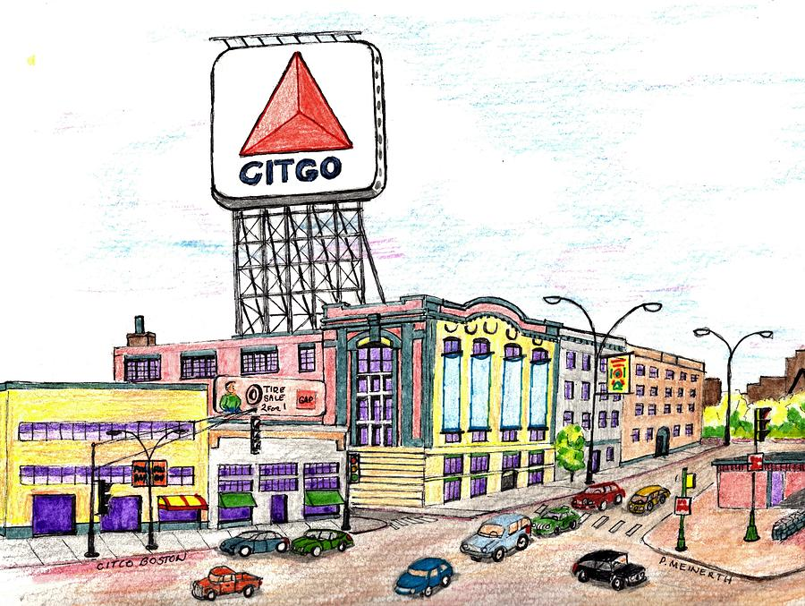 Citco Boston Drawing by Paul Meinerth