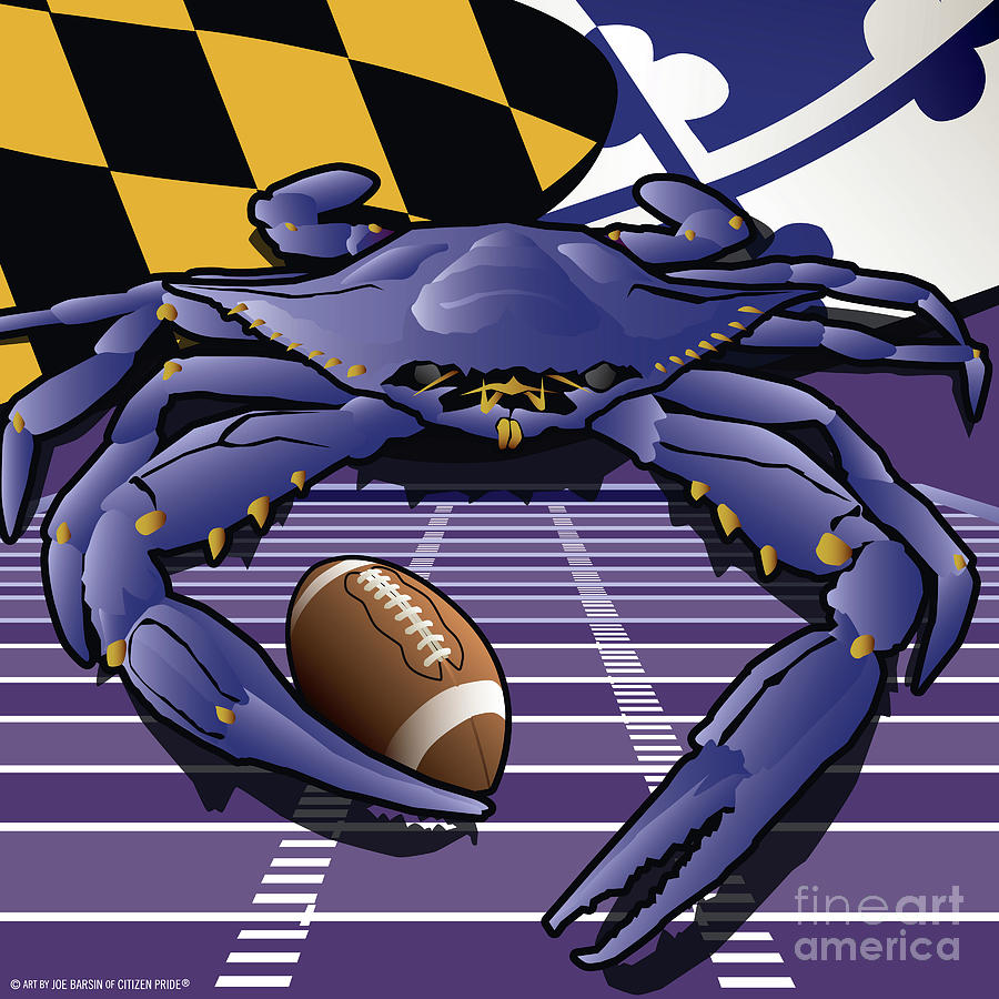 Citizen crab raven marylands crab celebrating baltimore football