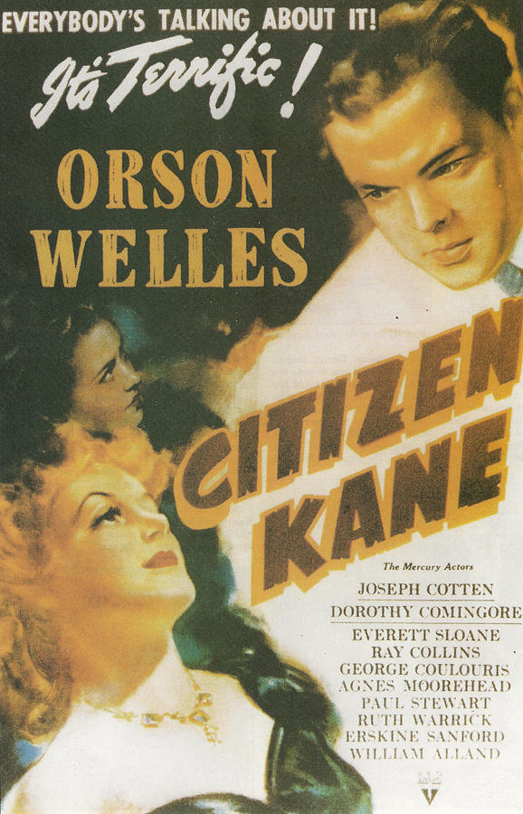 Citizen Kane Painting - Citizen Kane - Orson Welles by Georgia Fowler