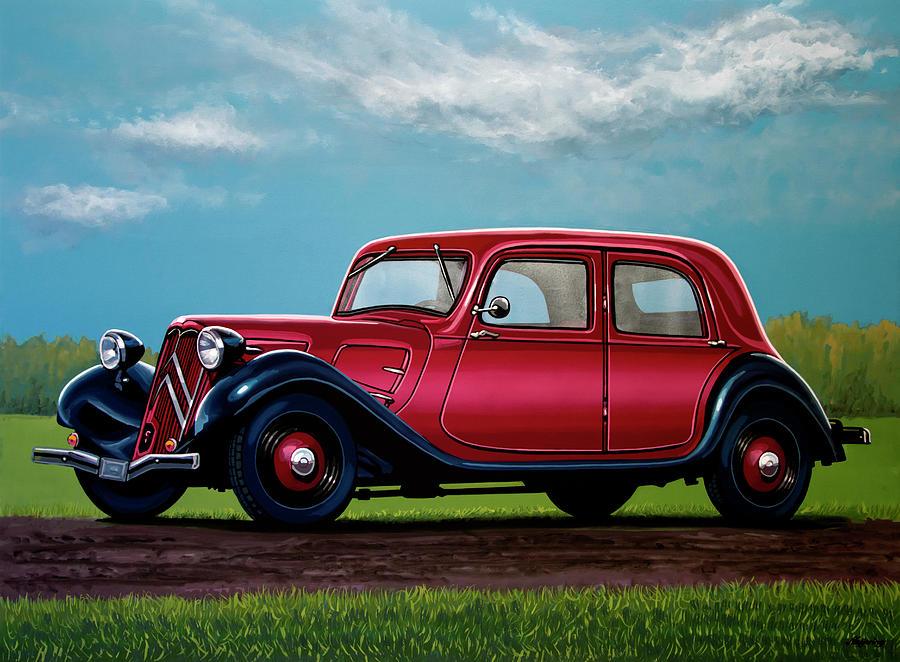 Citroen Traction Avant Painting - Citroen Traction Avant 1934 Painting by Paul Meijering