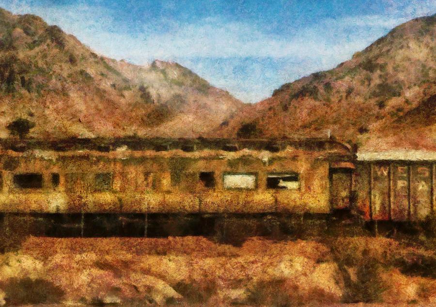 Savad Photograph - City - Arizona - Desert Train by Mike Savad