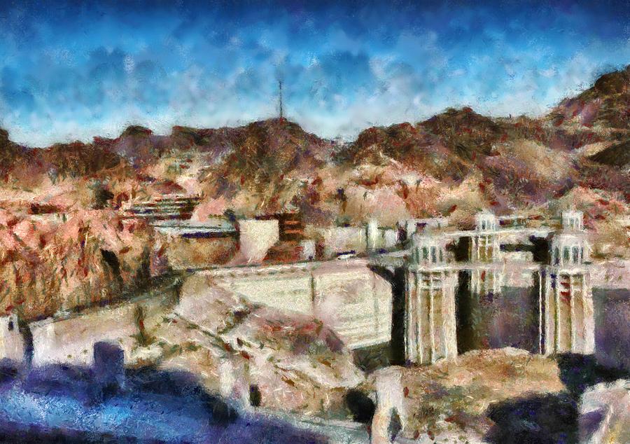 Savad Photograph - City - Nevada - Hoover Dam by Mike Savad