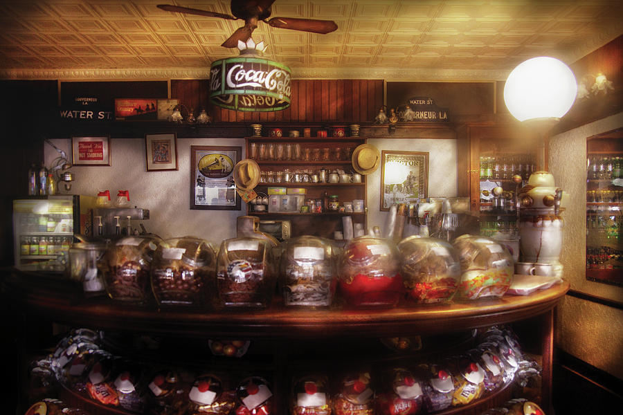 Savad Photograph - City - Ny 77 Water Street - The Candy Store by Mike Savad