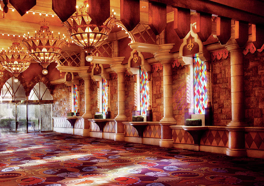 Savad Photograph - City - Vegas - Excalibur - In The Great Hall  by Mike Savad