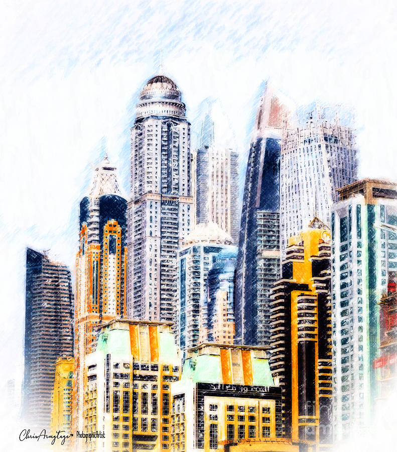 City Digital Art - City Abstract by Chris Armytage