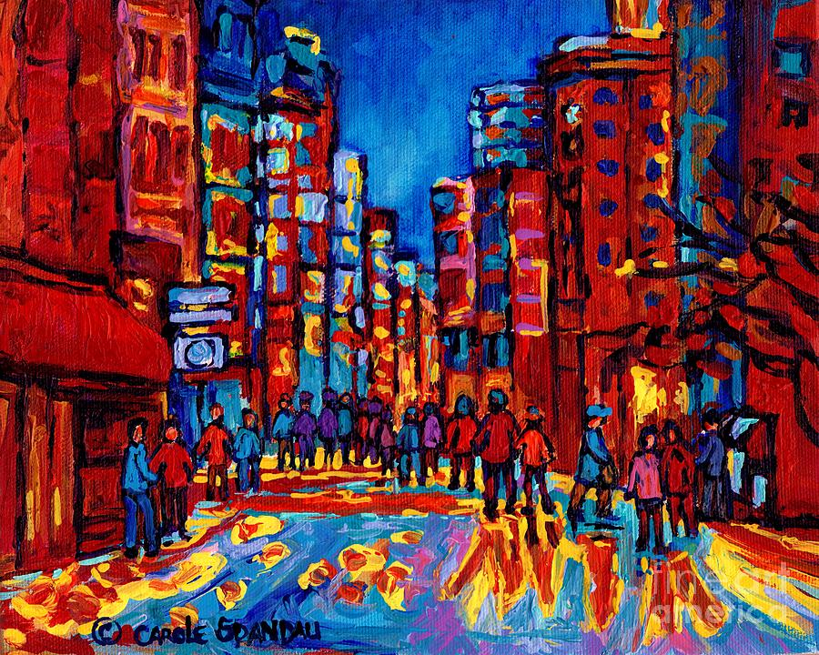 Montreal Painting - City After The Rain by Carole Spandau