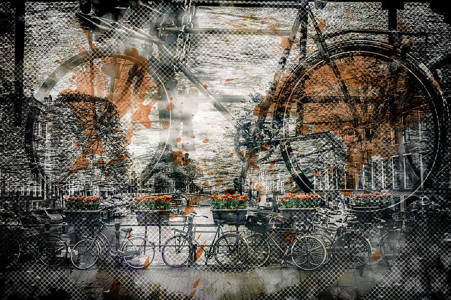 Amsterdam Photograph - City-art Amsterdam Bicycles  by Melanie Viola