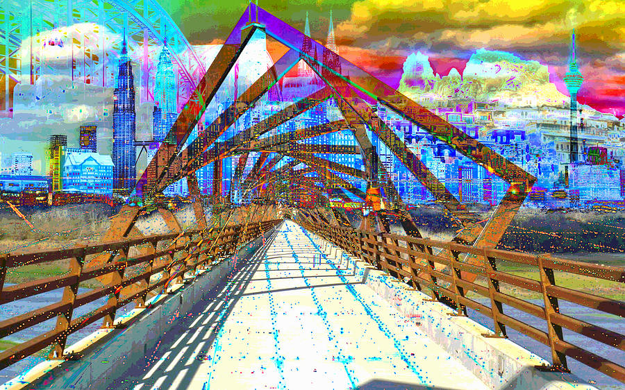 City Digital Art - City Art Civil Service  by Mary Clanahan