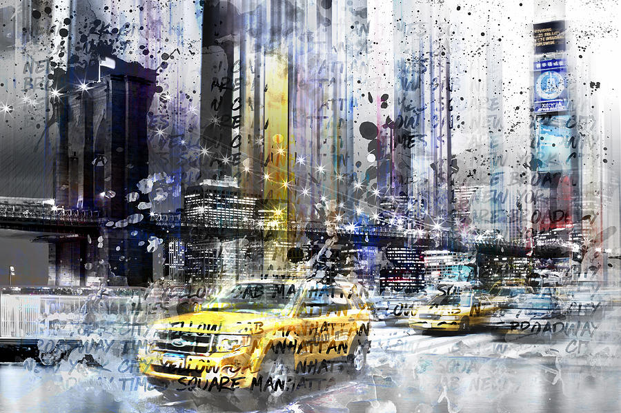 7th Photograph - City-art Nyc Collage by Melanie Viola