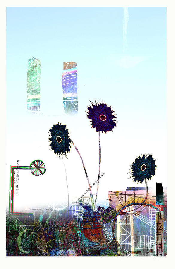 Urban Drawing - City Blooms by Andy  Mercer