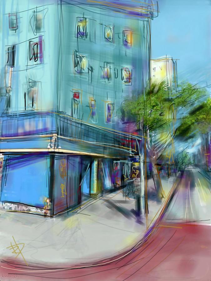 City Digital Art - City Blue by Russell Pierce