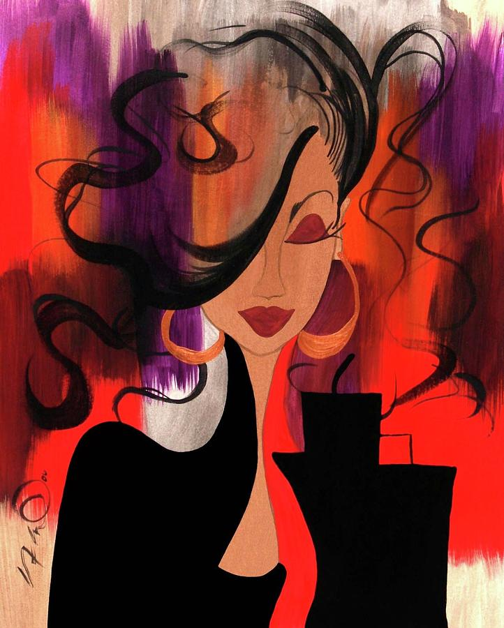 Contemporary Painting - City Chic by Simone Fennell