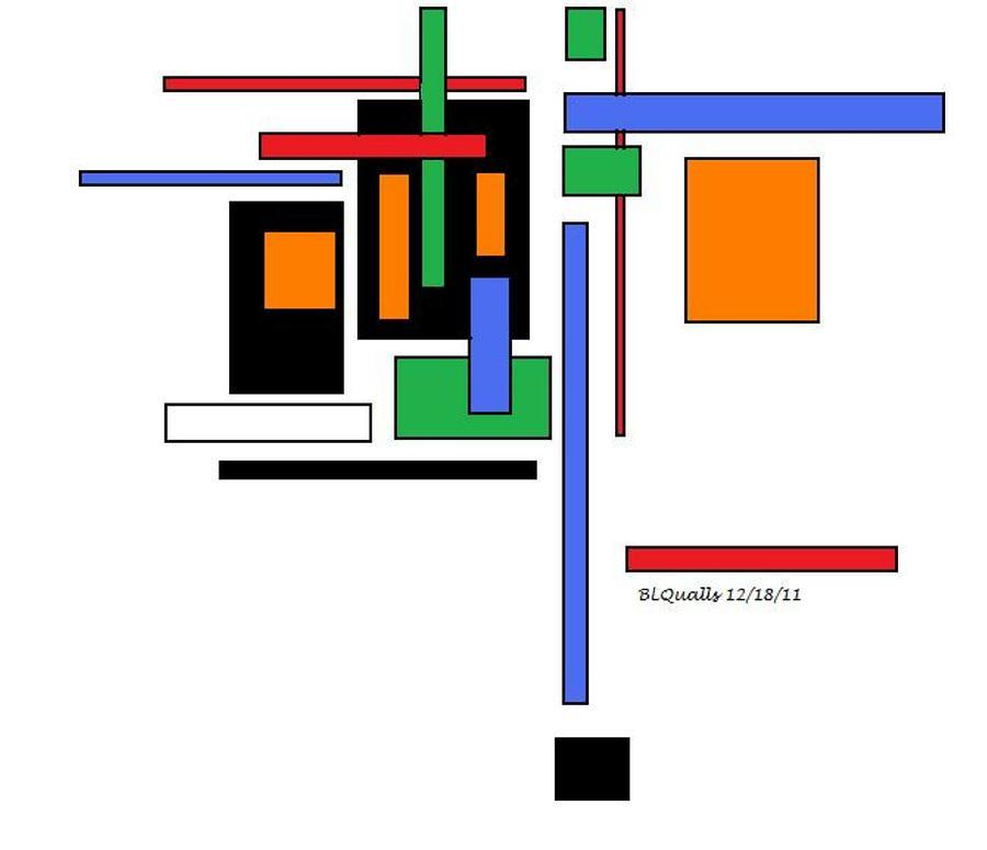 Abstract Digital Art - City Colors 2 by B L Qualls