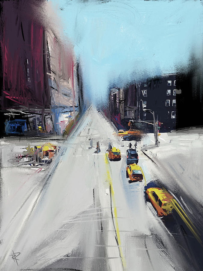 Cityscape Mixed Media - City Contrast by Russell Pierce
