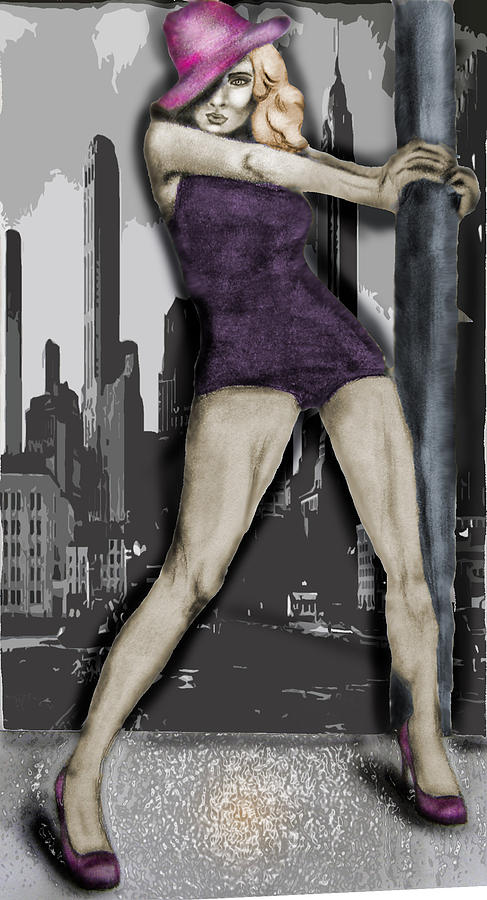 City Painting - City Dancer by Samantha Kulchar