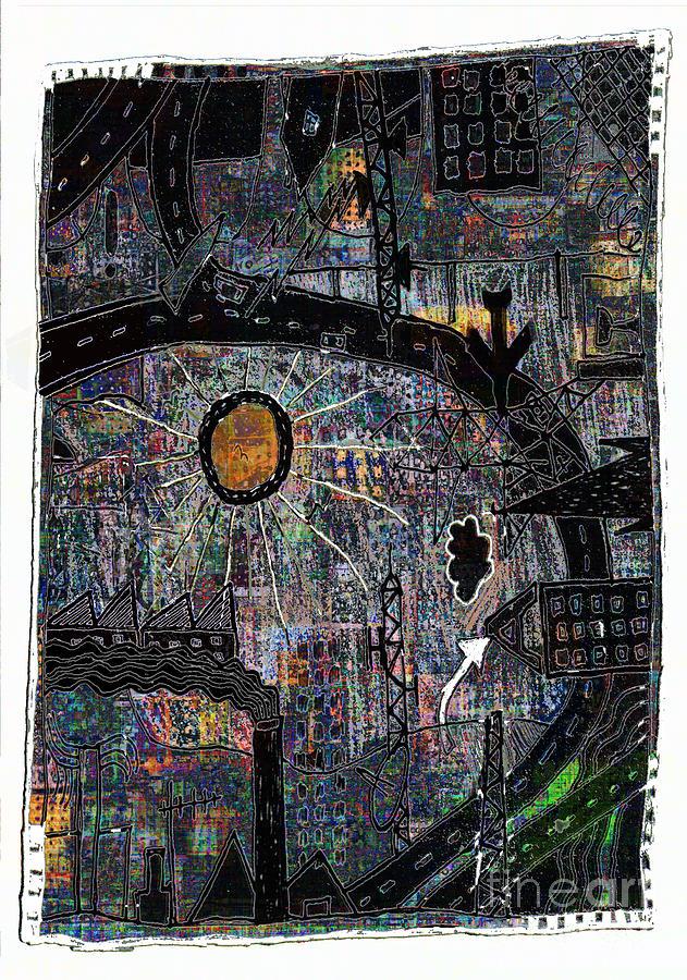 City Digital Art - City Dragon by Andy  Mercer