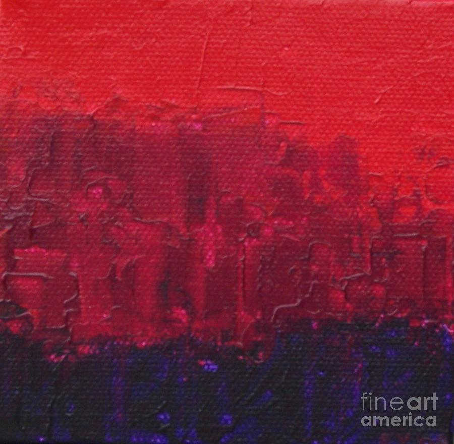 Red Painting - City by Emily Young