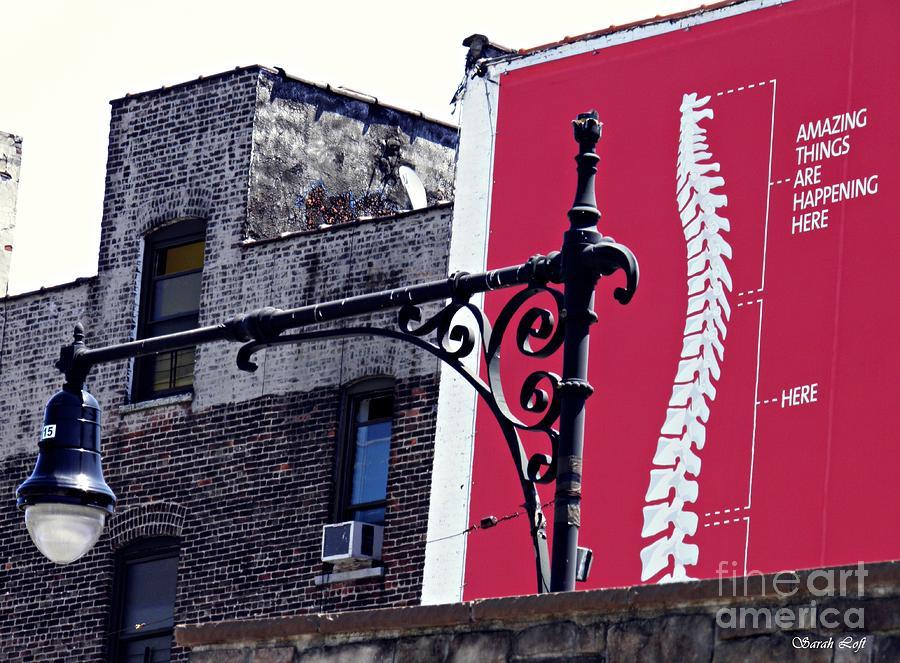 Building Photograph - City Exoskeleton by Sarah Loft